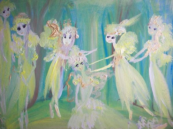 Forest Art Print featuring the painting Forest Ballet by Judith Desrosiers