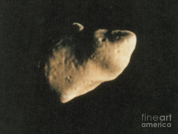 Science Art Print featuring the photograph Gaspra, S-type Asteroid, 1991 by Science Source
