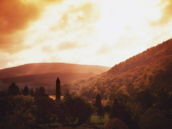 Outdoors Print featuring the photograph Glendalough, County Wicklow, Ireland by The Irish Image Collection