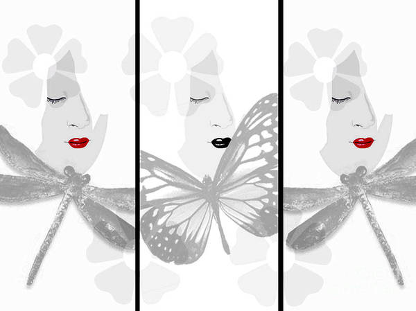 Art Print featuring the digital art Glimpse Of Purity by Gia Simone