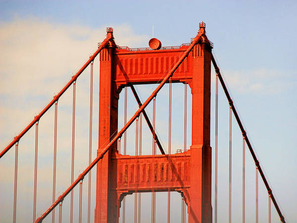 Top Print featuring the photograph Golden Gate Bridge - Nothing Equals Its Majesty by Christine Till