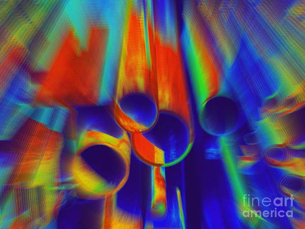 Abstract Art Print featuring the photograph Heat by Irina Hays