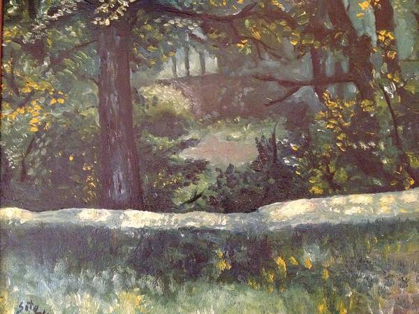 Landscape Art Print featuring the painting Highland Park 1 by Victor SOTO