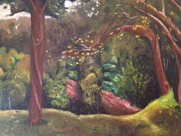 Landscape Art Print featuring the painting Highland Park 2 by Victor SOTO