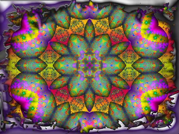 Flower Art Print featuring the digital art Home Sweet Home by Robert Orinski