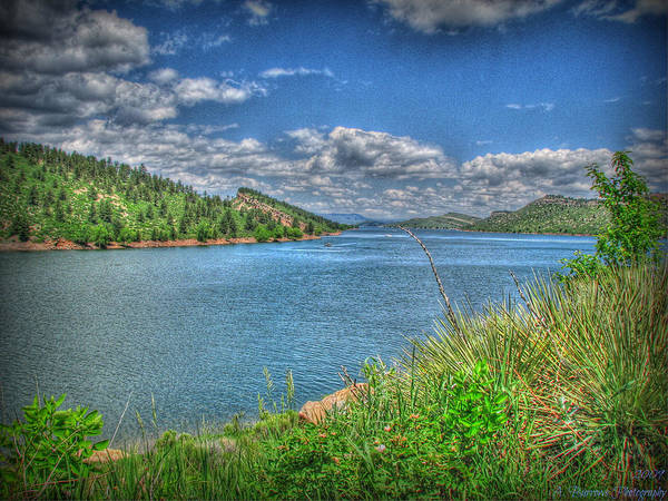 Horsetooth Reservoir Art Print featuring the photograph Horsetooth Reservoir Summer Hdr by Aaron Burrows