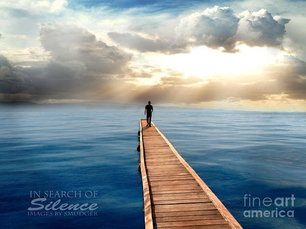 Sea Art Print featuring the digital art In Search Of Silence by Eugene James