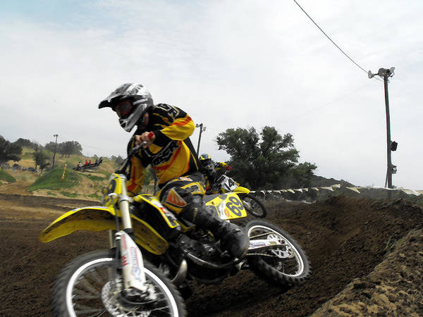 Dirtbike Art Print featuring the photograph In The Chase by Darrell Moseley