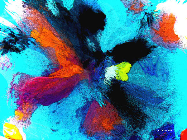 Abstract Art Print featuring the painting In The Nick Of Time by Charles Yates