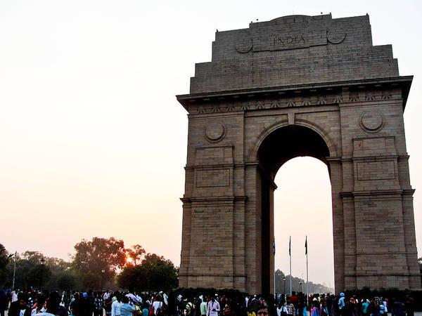 Landscape Art Print featuring the photograph India Gate Milieu by Rajat Vashishta