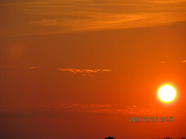 Sunset Art Print featuring the photograph July 16 Sunset Five by Tina M Wenger