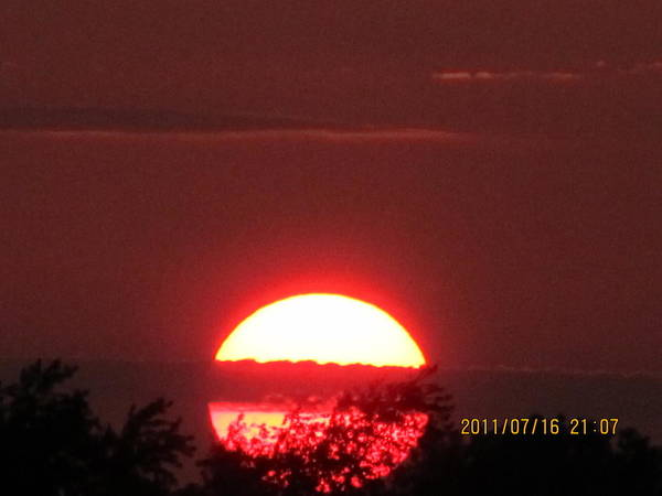 Sunset Art Print featuring the photograph July 16 Sunset Six by Tina M Wenger