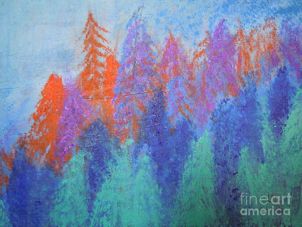 Landscape Art Print featuring the painting Landscape- Color Palette by Soho