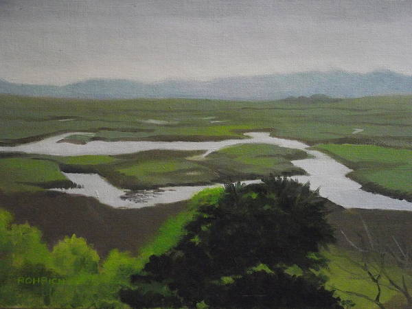 Marsh Art Print featuring the painting Landsend No. 2 by Robert Rohrich