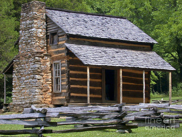 Log Cabin Art Print featuring the photograph Log Cabin by Tim Mulina