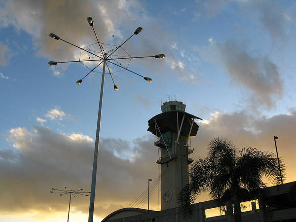 Landscape Art Print featuring the photograph Los Angeles Airport by Ian Stevenson