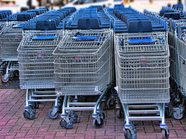 Carts Art Print featuring the photograph Lots Of Carts by Helaine Cummins