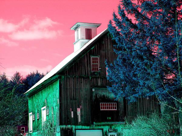 Barns Print featuring the photograph Maine Barn by Marie Jamieson