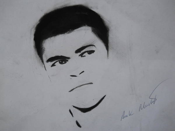 Mohammed Art Print featuring the drawing Mohammed Ali by Ahmed Mustafa