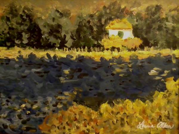 Water Art Print featuring the painting Monet House by Laurie Allan