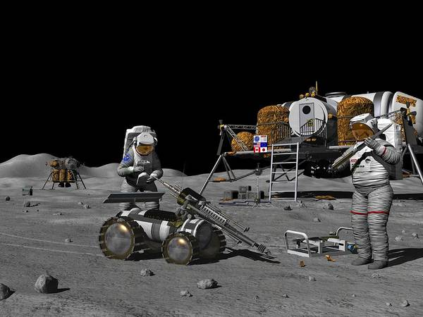 Equipment Art Print featuring the photograph Moon Exploration, Artwork by Walter Myers