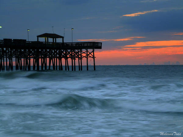 Pier Art Print featuring the photograph Morning At The Pier by Melessia Todd