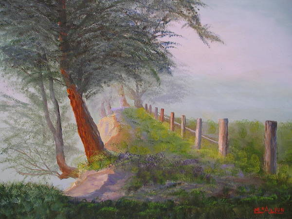 Landscape Art Print featuring the painting Morning Haze by Tom McAlpin