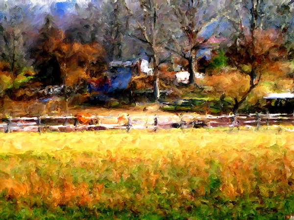 Farm Print featuring the digital art Our View by Marilyn Sholin