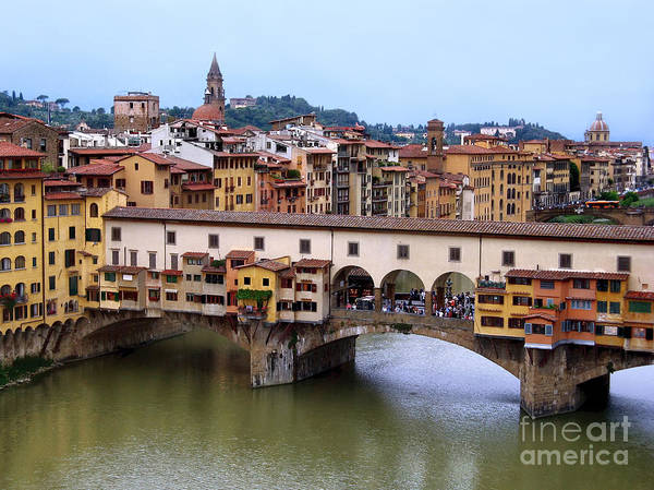 Ponte Vecchio Art Print featuring the photograph Ponte Vecchio From Uffizi by Jennie Breeze