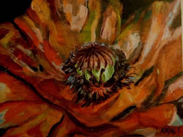 Poppy Art Print featuring the painting Poppy by MayLill Tomlin
