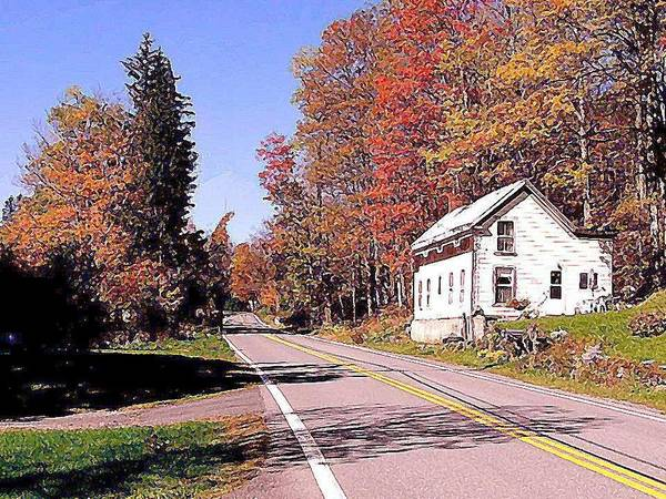 Potter Hollow Ny Art Print featuring the painting Potter Hollow N Y by Dwight Goss