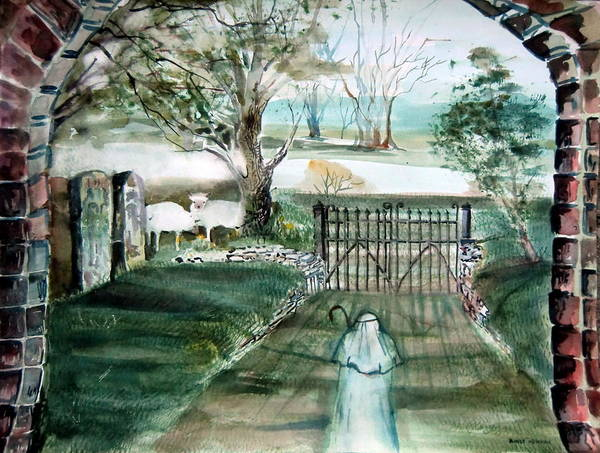 Pastoral Art Print featuring the painting Psalm 23 by Mindy Newman