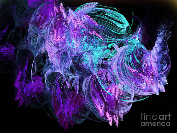Fine Art Art Print featuring the digital art Purple Fusion by Andee Design