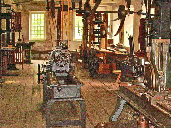 Mill Art Print featuring the photograph Quitting Time by Frank SantAgata