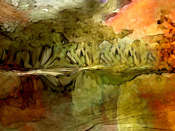 Neoglyph Art Print featuring the digital art Reflections by George Page
