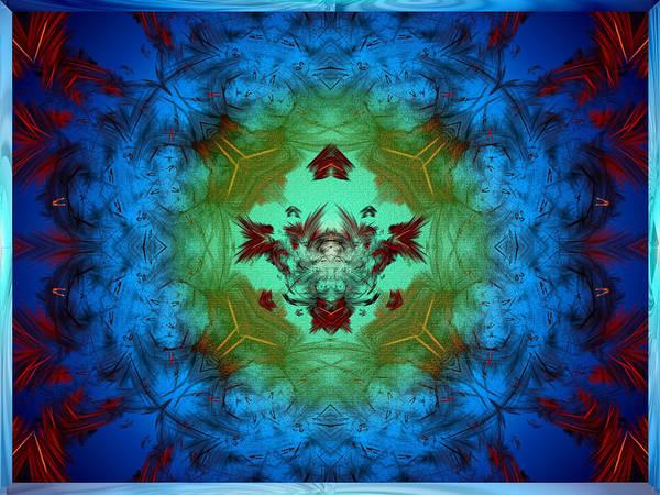 Apophysis Art Print featuring the digital art Regal Abyss by Mario Carini