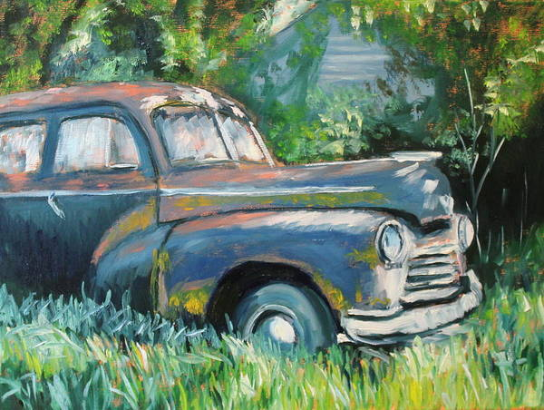 Chevrolet Art Print featuring the painting Resting by Daniel W Green