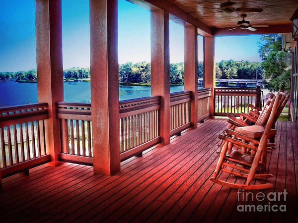 Porch Art Print featuring the photograph Rocking Chair Porch View by Patricia L Davidson