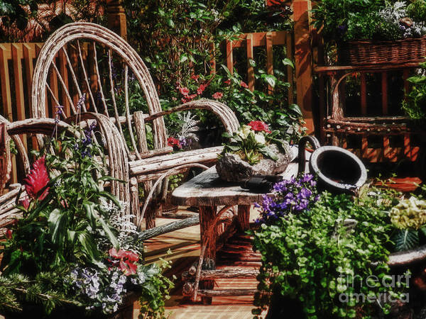 Chair Art Print featuring the photograph Rustic Retirement by Carol A Commins