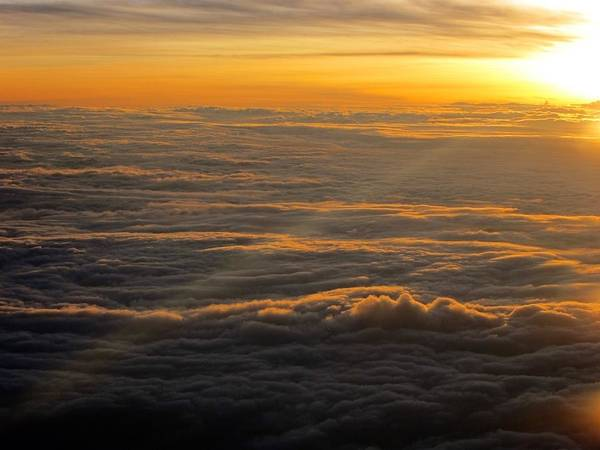 Sea Of Clouds Art Print featuring the photograph Sea Of Clouds by Jyotsna Chandra