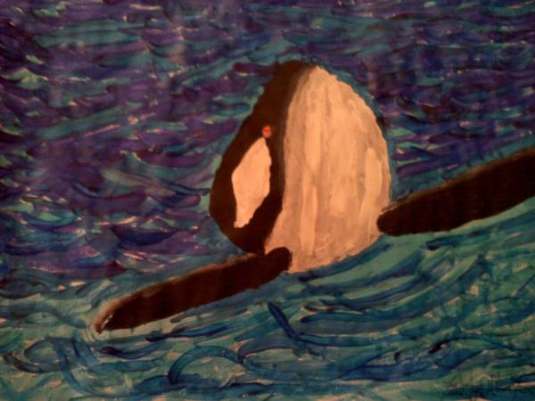 Art Print featuring the painting Shamu by Timothy Walters