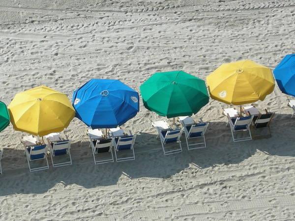 Beach Umbrella's Art Print featuring the photograph Start Up by Robert Barwegen