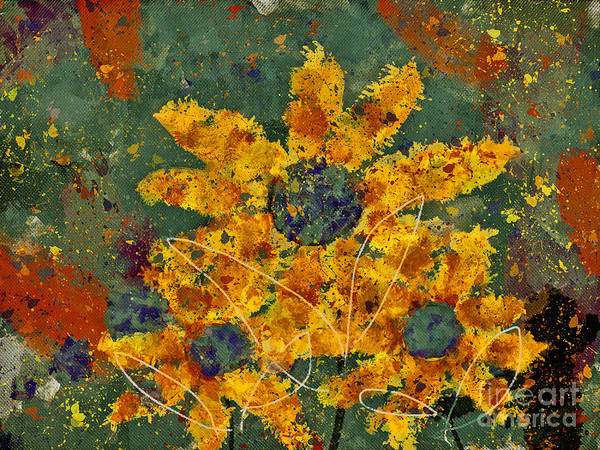 Painting Art Print featuring the digital art Stimuli Floral - S04ct01 by Variance Collections