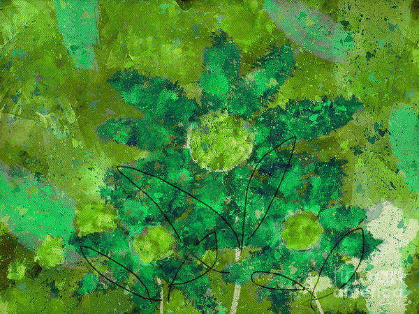 Painting Print featuring the digital art Stimuli Floral -s11bt01 by Variance Collections