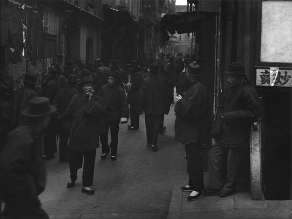 History Art Print featuring the photograph Street Of The Gamblers Ross Alley by Everett