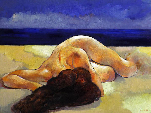 Original Art Print featuring the painting Summer by Ognian Kouzmanov