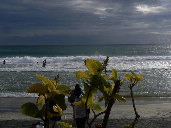 Kovalam Art Print featuring the photograph Sunlight On Kovalam Beach by Alan Pillant