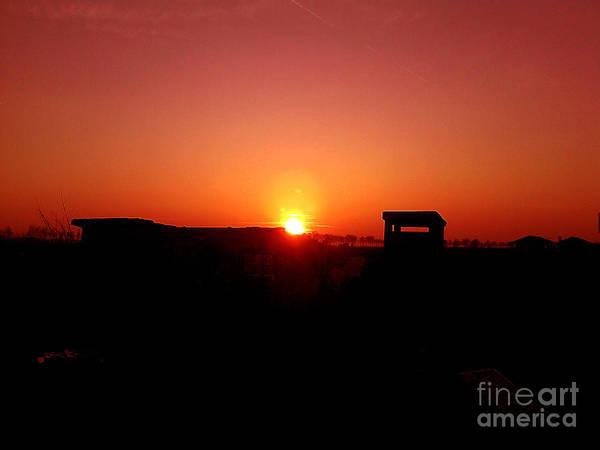 Art Print featuring the photograph Sunset At Ferrara by Richard Janosi