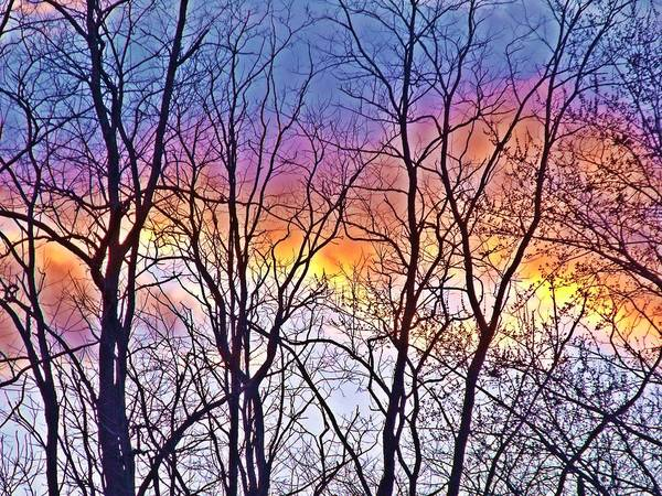 Cloud Art Print featuring the photograph Sunset Cloud Color 12 by Dave Dresser