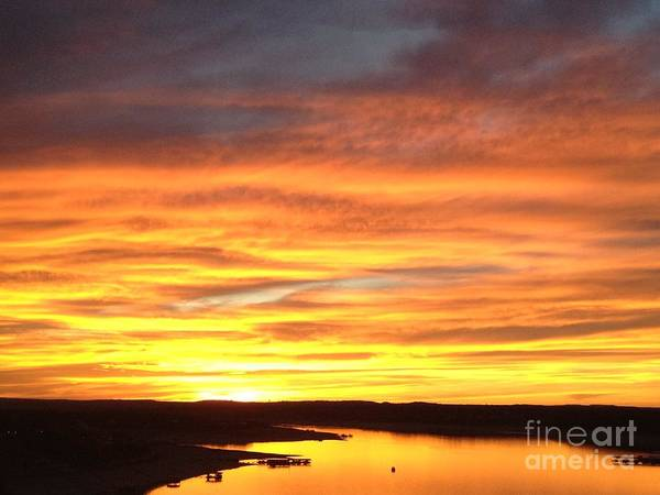 Sunset Art Print featuring the photograph Sunset Lake Travis by Tracy Lintz